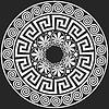 Векторный клипарт: Традиционный старинный греческий орнамент (Меандр)