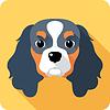 Векторный клипарт: значок собака плоская конструкция