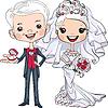 Nette Braut und Bräutigam