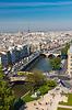 Ansicht von Paris von der Kathedrale Notre Dame | Stock Foto