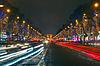 Weihnachten Champs Elysees und Arc de Triomphe Paris | Stock Foto