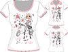 T-Shirt mit der Mode Mädchen und Roller