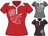Frauen Kurzarm T-Shirt-Design-Vorlagen