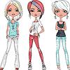 schöne Mode Mädchen Topmodels