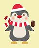 Weihnachten Pinguin mit Eis