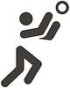 排球图标 | 向量插图