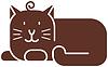 Icono del gato - estilizada silueta del arte | Ilustración vectorial