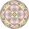 Векторный клипарт: Калейдоскопической тур цветочный тату. Мандала в цвете