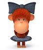 3d kleine Affe | Stock Illustration
