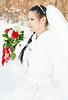 Wedding dress and flowers veil | Stock Foto