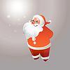 Weihnachtsmann mit Brille smilings
