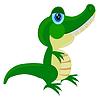 Cartoon von Krokodil