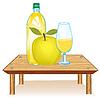 Tabelle mit Getränk
