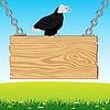 Adler an Bord von Baum