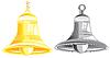 Векторный клипарт: Два колокола