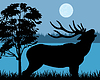 Silhouette eines Hirsches