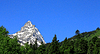 Caucasus Mountains Under Snow And Clear Blue Sky | Stock Foto