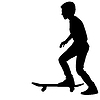 Set Skateboarder Silhouette.