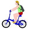 Silhouette der Radfahrer männlich.