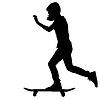 Skateboarder Silhouette.