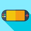 Moderne Flach Konzept Symbol Videospielkonsolen