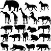 Set Silhouetten Tiere im Zoo Sammlung