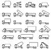 Reihe von Icons - Transport Symbole. Schwarz. Ve