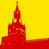 Moscow, Russia, Kremlin Erlöserturm mit