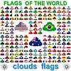 Flaggen der Welt und Karte. illustra