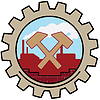 Factory Icon Cross Hammer | 向量插图