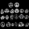 Anarchy And Peace Symbol Logo | 向量插图