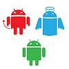 Android różne wersje Wygląd | Stock Vector Graphics
