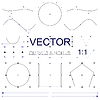 Vector Curves and Nodes Interface Elements | 向量插图