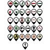 Reihe von militärischen Symbolen