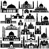 Векторный клипарт: Архитектура Азии