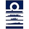 Abstrakt Insignia Navy Admiral