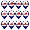 Abzeichen mit Navy Schiffe-