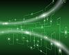 Technologische grünen Hintergrund