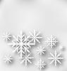 Weihnachtsgrußkarte mit Papier Schneeflocken
