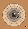 총알 구멍으로 범위 대상을 촬영 | Stock Vector Graphics