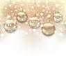 Векторный клипарт: Рождество мерцающий фон с шарами и