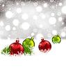 Векторный клипарт: Рождественские зимние фон с красочными стекла