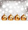 Векторный клипарт: Зима светящийся фон с шарами надписи продажи