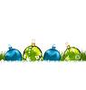 Векторный клипарт: Зима поздравительные открытки с красочными стеклянными шариками