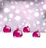 Векторный клипарт: Зима милый фон с шарами Рождество