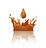 Векторный клипарт: Шоколад всплеск корона с капли и