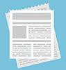 Векторный клипарт: Вздох простой значок бюллетень для веб и
