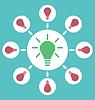 Векторный клипарт: Иконка процесс генерирования идей для решения
