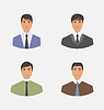 Avatar Satz vorne Portrait Office Manager für Web-