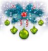 Векторный клипарт: Рождество традиционные украшения с пихты
